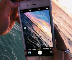 photography, photo, and sunset image
