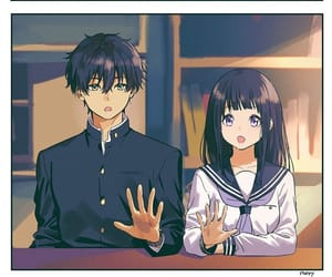 hyouka, couple, and hands image
