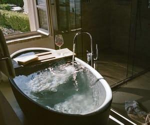 bathroom, bathtub, and house image