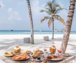 beach and food image