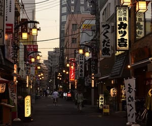 japan, street, and lights image