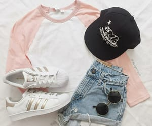 outfit, fashion, and adidas image