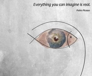 quotes, picasso, and imagine image