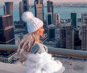 blonde, faux fur, and girl image