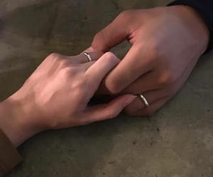 hands, couple, and holding hands image