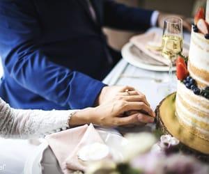 couples, romance, and wedding image