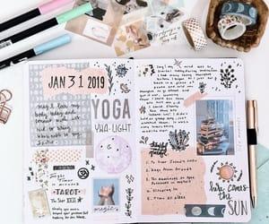 brush pens, school, and studygram image