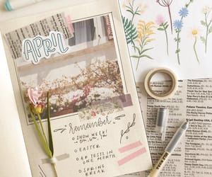 drawing, journaling, and school image