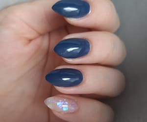 blue, deep blue, and nails image