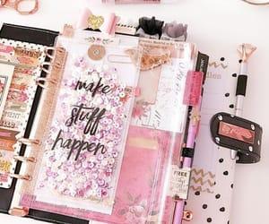 agenda, glitter, and journaling image