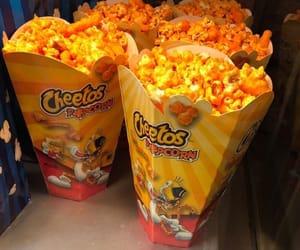 food, popcorn, and cheetos image