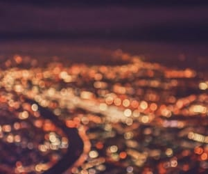 blurry, city, and lights image