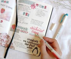 journaling, lettering, and planner image