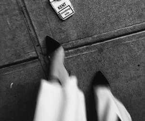 fashion, black and white, and cigarette image