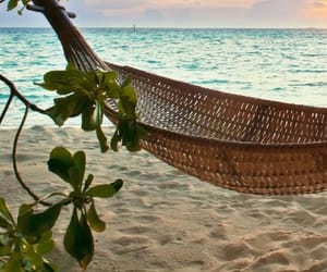 beach, relaxing, and summer image