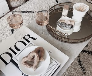 food, dior, and champagne image