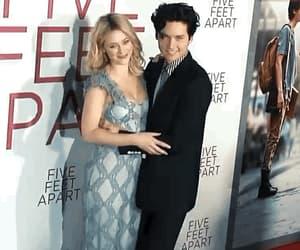 couple, lili reinhart, and five feet apart image