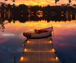 photography, skyline, and sunset image