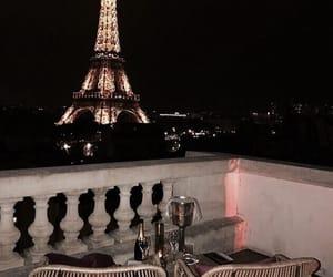 paris, travel, and night image