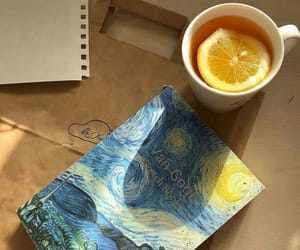 notebook and van gogh image