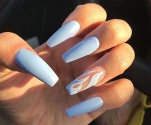 nails, blue, and baby blue image