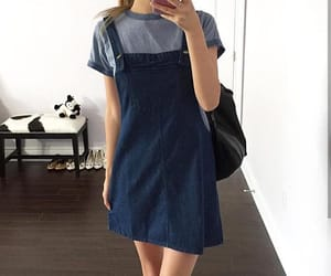 aesthetic, blue, and blue dress image