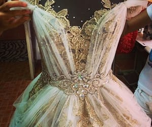 dress, princess, and wedding image