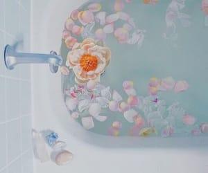 bath, edits, and blue image