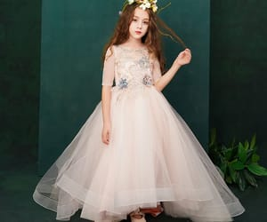 beading, tulle, and little girl dress image