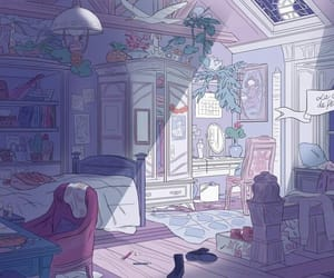 bedroom, illustration, and magic image