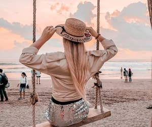 beach, hairstyle, and style image