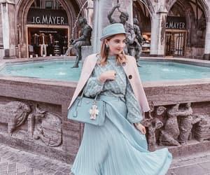 beauty, blue, and dress image