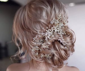 blonde, bride, and hair image
