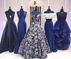 blue, dresses, and gowns image