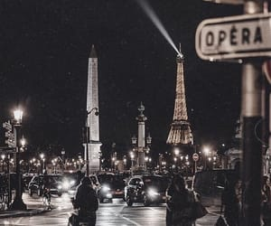city, night, and paris image