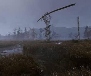 broken, gloomy, and monorail image