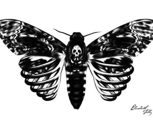 art, black&white, and fantasy image