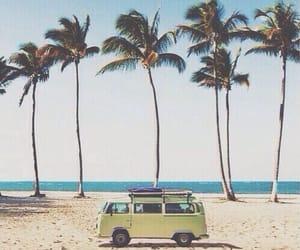 beach, california, and chillin image