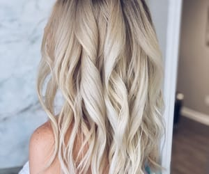 backdrop, blonde, and curls image