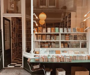 book store, books, and cozy image