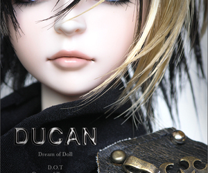 doll, black hair, and ducan image