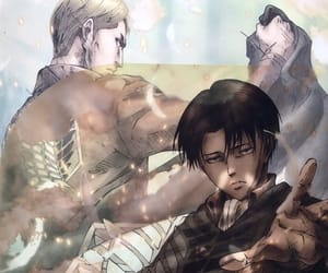 Erwin, snk, and levi image