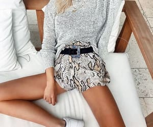 fashion, print, and pullover image