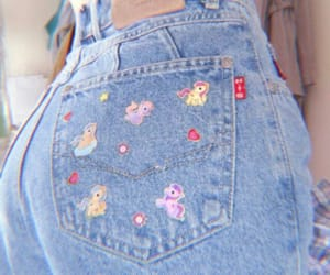 accessories, jeans, and clásic image