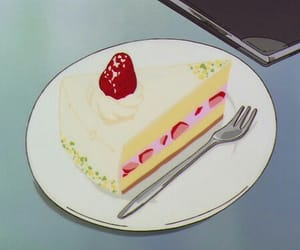 anime, cake, and food image