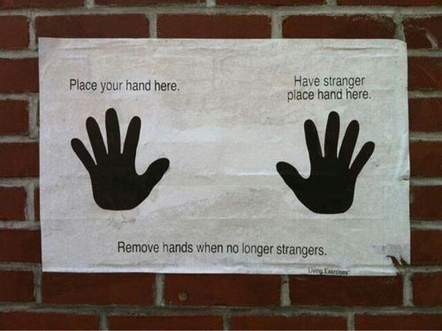 stranger, hands, and friends image