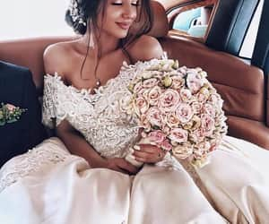 bride, wedding, and beauty image