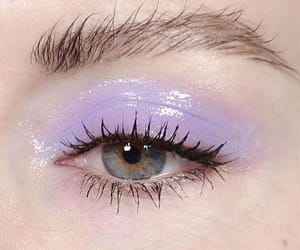 purple, eye, and eyes image