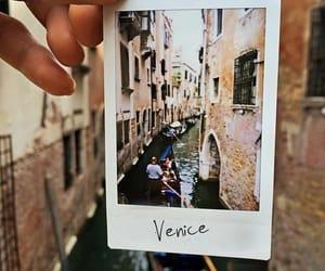 italy, venice, and polaroid image