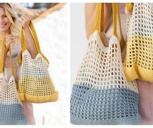 crochet, beach bag, and market bag image